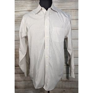 Brooks Brothers Brown Plaid Dress No Iron Shirt